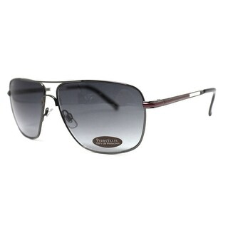 Perry Ellis Mens Metal Aviator Sunglasses Gunmetal Merlot-PE24-4, Includes Perry Ellis Pouch, 100% UV Protection