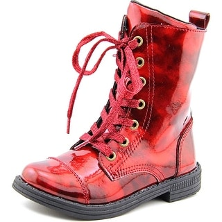 Umi Stomp Youth Round Toe Canvas Red Boot