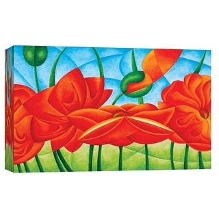 """PTM Images 9-101697  PTM Canvas Collection 8"""" x 10"""" - """"Poppies V"""" Giclee Poppies Art Print on Canvas"""