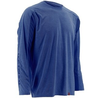 Huk Men's Next Level Ice Royal Heather Small Long Sleeve Shirt