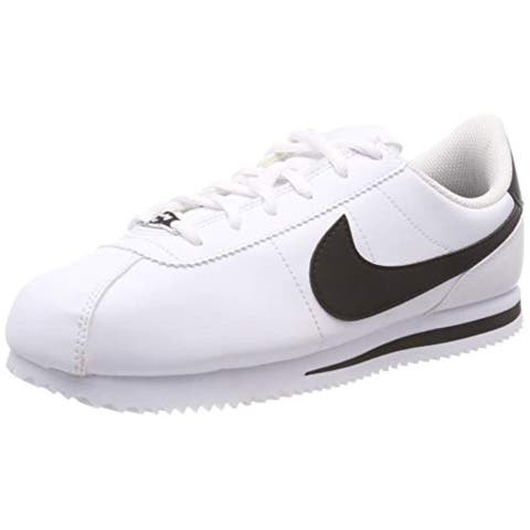 41abc2f381cb Nike 904764-102  Kids Cortez Basic Sl White Black Sneakers