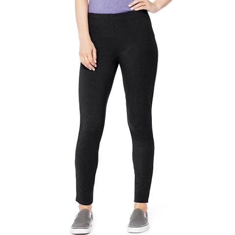 Hanes Women's Stretch Jersey Legging - Size - L - Color - Black