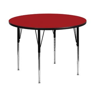 Offex 48'' Round Activity Table with Red Thermal Fused Laminate Top and Standard Height Adjustable Legs|https://ak1.ostkcdn.com/images/products/is/images/direct/990d3c8f35bcb13b09dfcf52eee09d969a0cca5a/Offex-48%27%27-Round-Activity-Table-with-Red-Thermal-Fused-Laminate-Top-and-Standard-Height-Adjustable-Legs.jpg?impolicy=medium