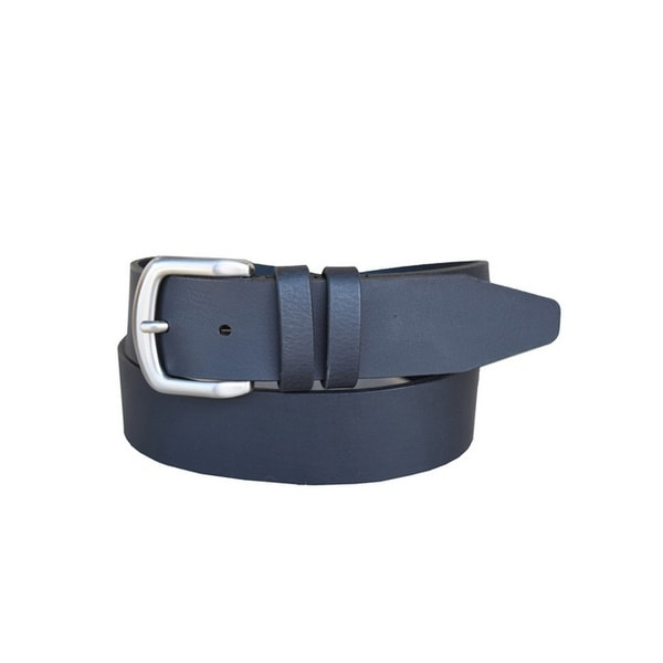 Lejon Western Belt Mens Brushgun Leather Black