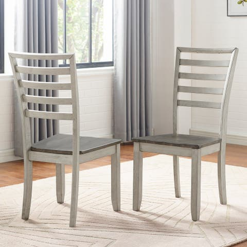 The Gray Barn Aldrich Two-tone Smokey Side Chair (Set of 2)