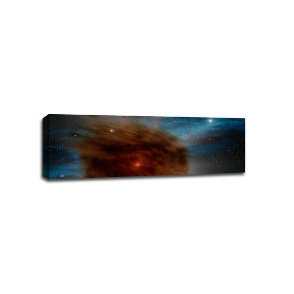 Outerspace Super Nova - Space - 48x16 Gallery Wrapped Canvas Wall Art