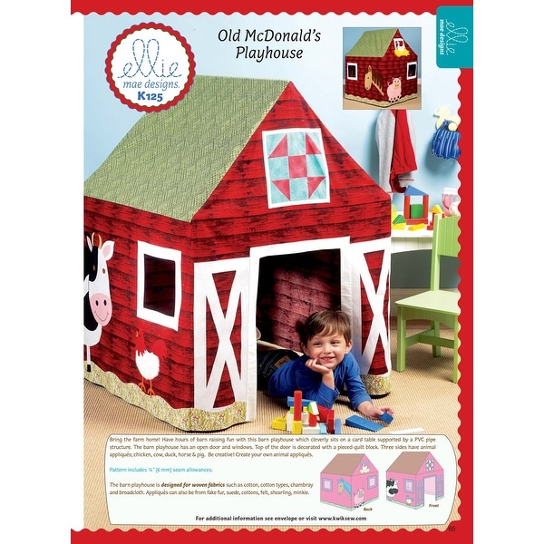Barn Playhouse-One Size Only -*SEWING PATTERN*