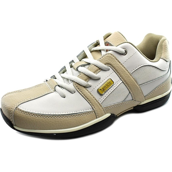 Impulse P5115 Men Round Toe Leather White Sneakers