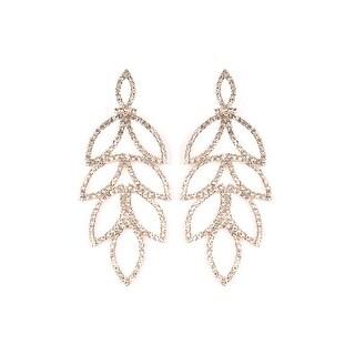 RIAH FASHION'S Sparkly Geometric Rhinestone Statement Earrings
