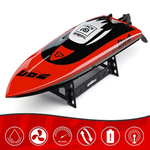 Udirc UDI010 2.4 GHz High Speed RC Boat, Remote Control Waterproof Brushless Watercooled Motor Racing Boat Pool River Toys