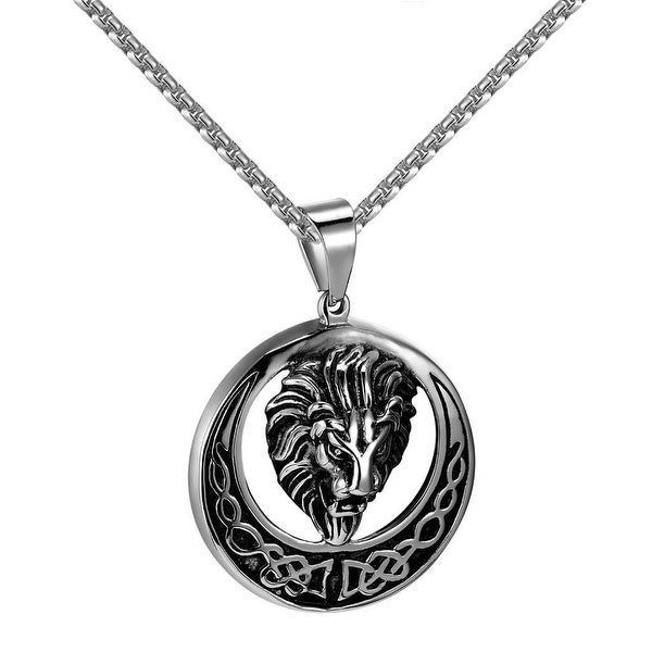 Lion Face Designer Pendant Stainless Steel Free 24 Inch Necklace Charm Classy