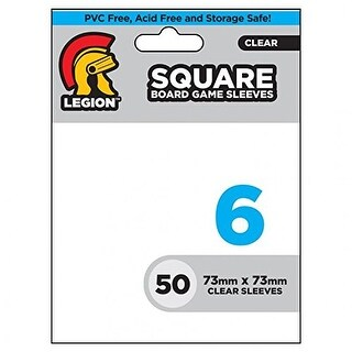 Square Board Game Sleeves - Clear