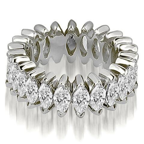 14K White Gold 2.88 CT Marquise Diamond Eternity Ring