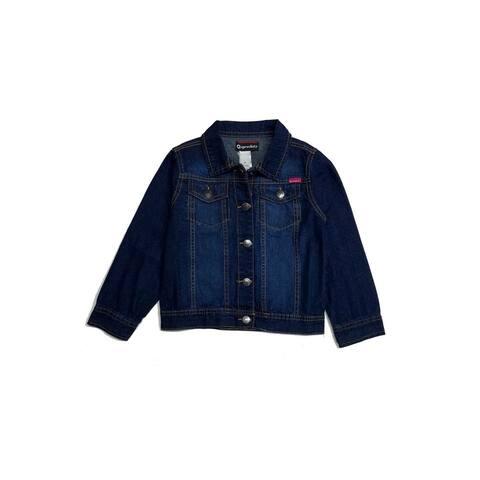 Sprockets Little Girls Dark Blue Metal Button Closure Denim Jacket