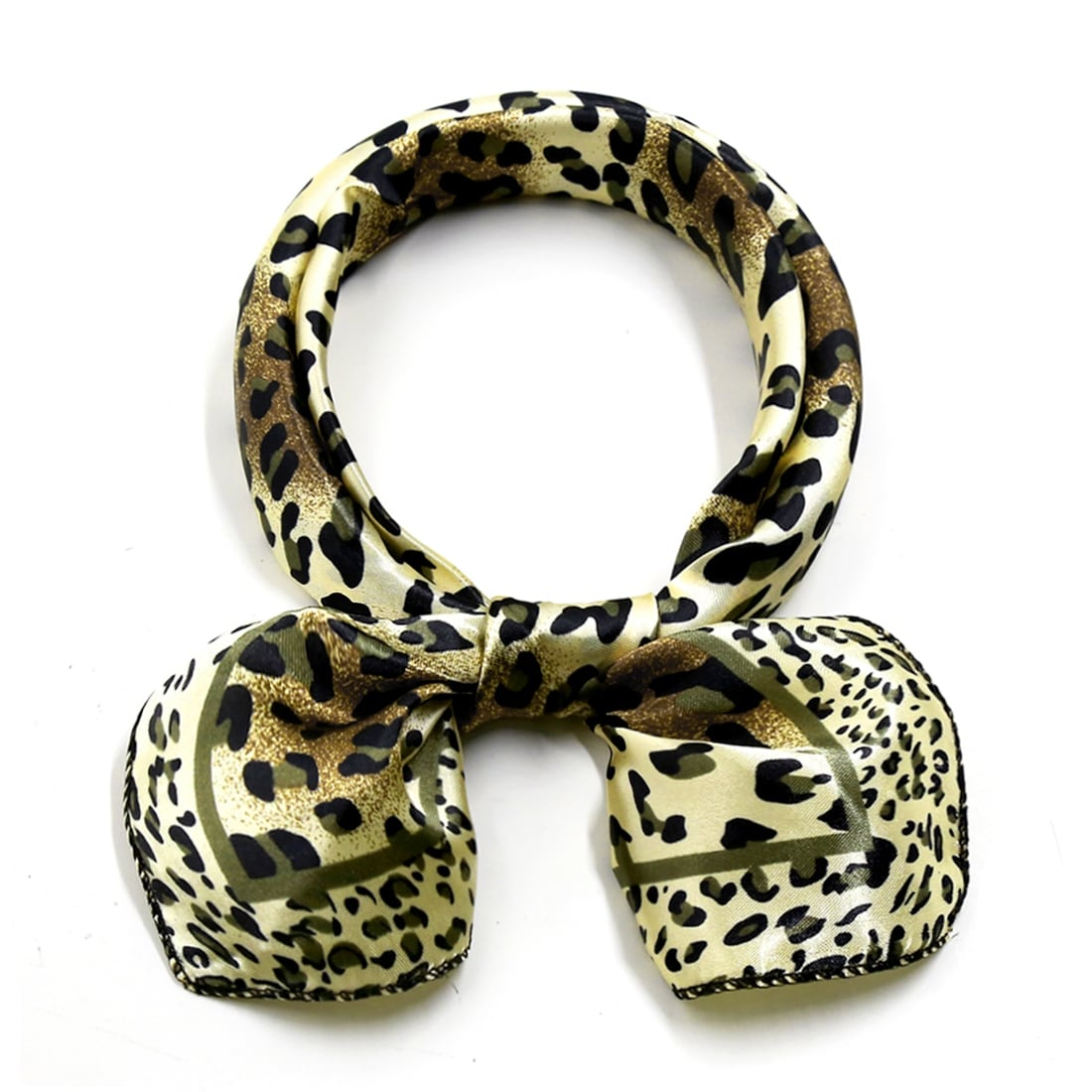 Womens Ladies New Printed Small Satin Tie Up Neck Scarf Pack x12 ZEBRA