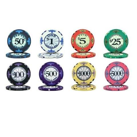 Bry Belly Scroll 10 Gram Ceramic Poker Chip Sample Pack - 8 Chips