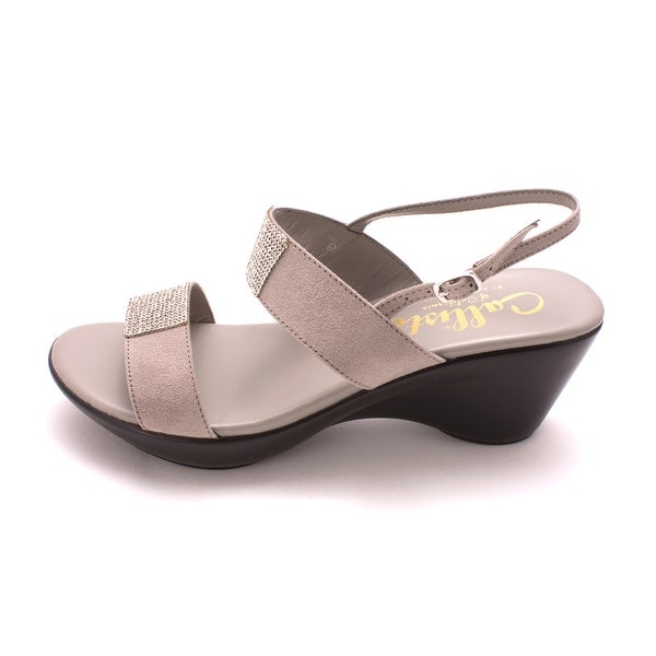 Callisto Womens Minaa Suede Open Toe Casual Slingback Sandals