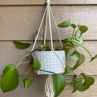 """Link to 5"""" GLADIATOR Ceramic with macrame,Matte White Similar Items in Women's Sweaters"""