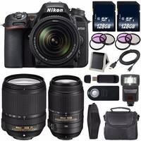 Nikon D7500 DSLR Camera with 18-140mm Lens International Model 1582 + Nikon 55-300mm f/4.5-5.6G ED VR Lens Bundle