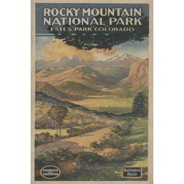 Shop Estes Park Colorado Rocky Mt National Park Brochure 1 Vintage Poster Art Print Multiple Sizes Available Overstock 27908976