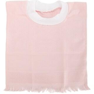 "Velour Toddler Pullover Bib 14 Count 12""X19.5""-Light Pink"
