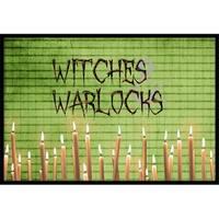 Witches & Warlocks Halloween Indoor Or Outdoor Doormat, 24 x 3