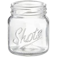 Palais Glassware Palais Shots Mason Jar Shot Glasses  Mini Shot Glass Cups Holds 2.4 Oz Set of 6 Clear