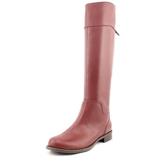 Nine West Counter Round Toe Leather Knee High Boot