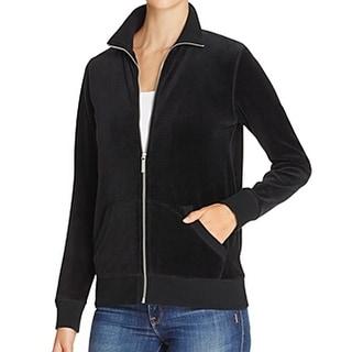 Michael Kors NEW Black Women's Size Medium M Velour Active Jacket