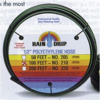 "Raindrip 052010P Drip Watering Poly Hose, 1/2""x100'"