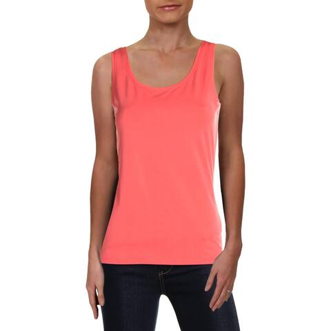 Nic + Zoe Womens Perfect Tank Top Cotton Stretch Scoop Neck