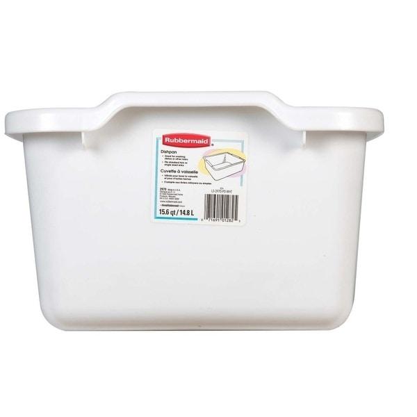 Rubbermaid 2970-AR WHT White Dishpan, 15.6 Quart