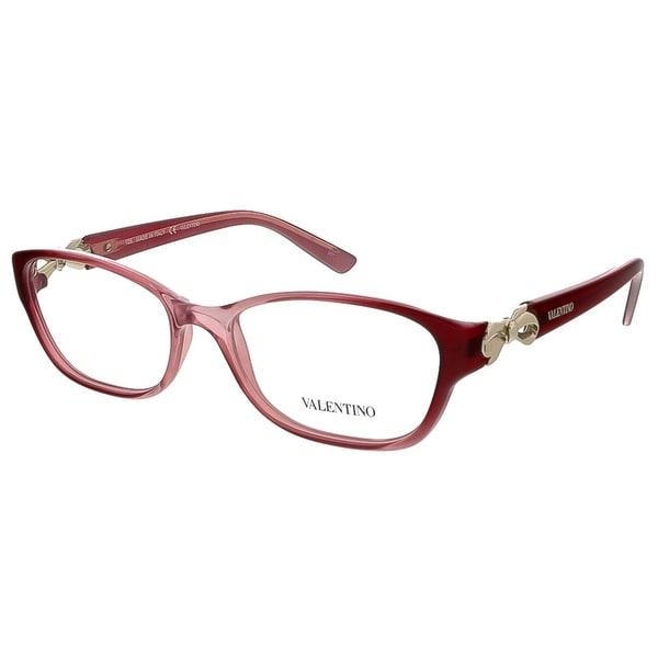 Valentino V2621 617 Gradient Red Rectangular Valentino Eyewear - gradient red