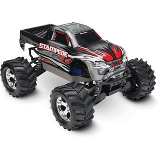 Traxxas Stampede 4 x 4 Brushed Monster Truck, Silver