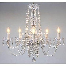 Swag Plug In Swarovski Crystal Trimmed Chandelier Lighting H25 x W24