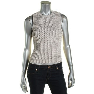 Theory Womens Tank Top Sweater Cable Knit Crew Neck - M