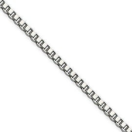 Chisel Stainless Steel 2.0mm 24 Inch Box Chain (2 mm) - 24 in