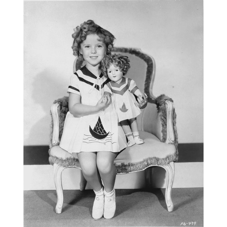 Cool Shirley Temple Sitting On Chair With A Doll In White Dress Photo Print Caraccident5 Cool Chair Designs And Ideas Caraccident5Info