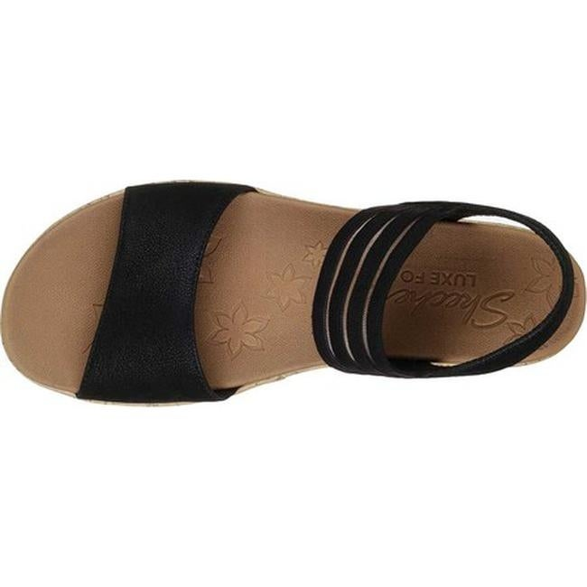 Skechers Women's Brie Lo'Profile Ankle Strap Sandal Black