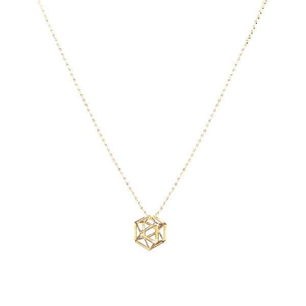 max & MO Octagon Cage Necklace