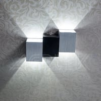 AGPtek 6W Wall Lights Indoor Up Down Night Light Pure White Cubic Body for Living Room