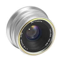 7artisans 25mm f/1.8 Manual Focus Prime Fixed Lens (Silver) for Sony E-Mount - Silver
