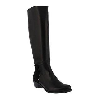 Spring Step Women's Gerri Tall Boot Black Glove Leather