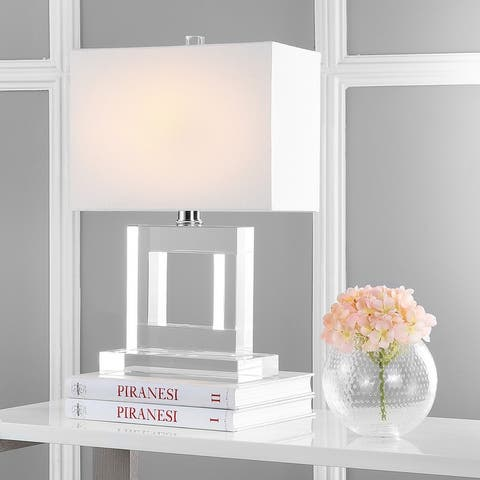"""SAFAVIEH Lighting 21-inch Town Square Crystal Table Lamp - 14""""x7""""x20.5"""""""