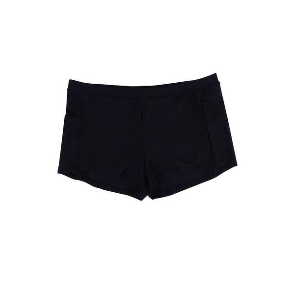 fd1bfb3b8e Shop Splashletics Women's Beach Club Solid Swim Shorts (L, Black) - Black -  L - Free Shipping On Orders Over $45 - Overstock - 22089414