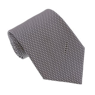 Versace Light Grey Woven Honeycomb Tie