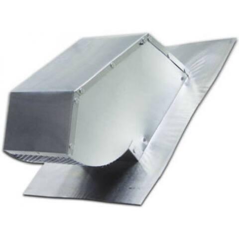 """Lambro 109R Round Aluminum Roof Cap w/ Damper & Screen, Fits 4"""" Dia. Duct"""