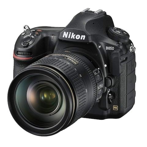 Nikon D850 FX-Format Digital SLR Camera Body w/AF-S NIKKOR 24-120MM F/4G ED VR Lens (Intl Model)