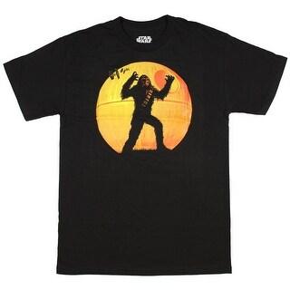 Star Wars Chewbacca Death Star Glow In The Dark Men's Graphic T-Shirt