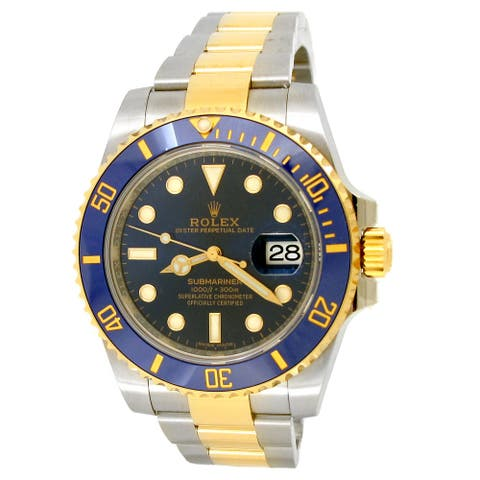 New 40mm Rolex Two-Tone Submariner Date Watch